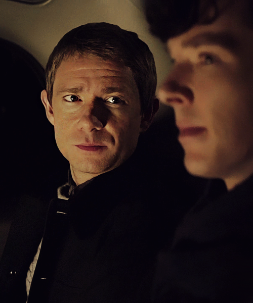 John and Sherlock - Martin Freeman and Benedict Cumberbatch in BBC's 'Sherlock'.