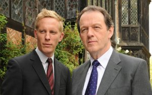 Kevin Whately and Laurence Fox in the TV series 'Lewis'