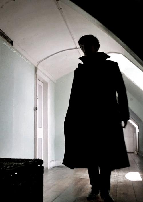 Benedict Cumberbatch as Sherlock Holmes in the BBC TV series, 'Sherlock'