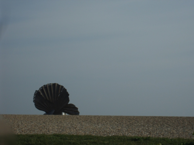 The Scallop by Maggi Hambling, Aldeburgh, Suffolk.