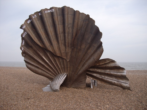 The Scallop by Maggie Hambling, a local Suffolk-based artist.