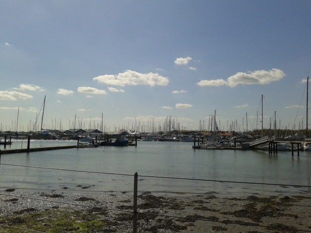 Sunshine on the Hamble River.