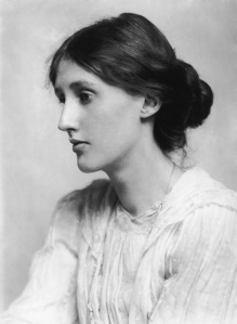 Virginia Woolf as a young woman.  I keep a copy of this portrait on my desk.