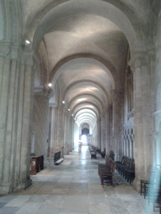 You see familiar things differently with a friend - I'd never noticed how beautiful the light on these arches in Norwich Cathedral before I saw them with my friend Helen.