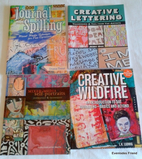 Some of the many lovely books about making art that I have bought instead of making art myself!