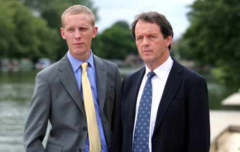 Kevin Whately as Robbie Lewis and Laurence Fox as James Hathaway in ITV's 'Lewis'.