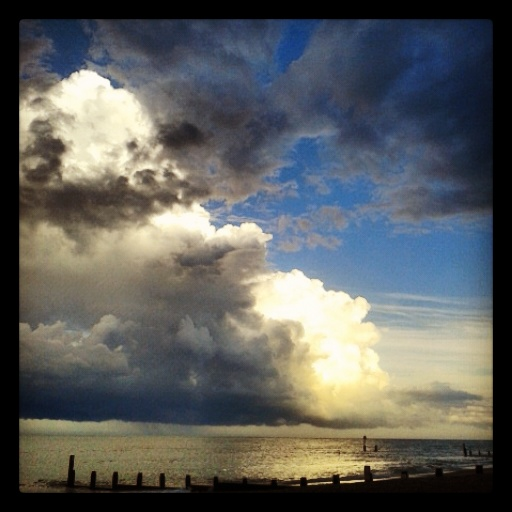 Gathering Storm off the Suffolk coast.