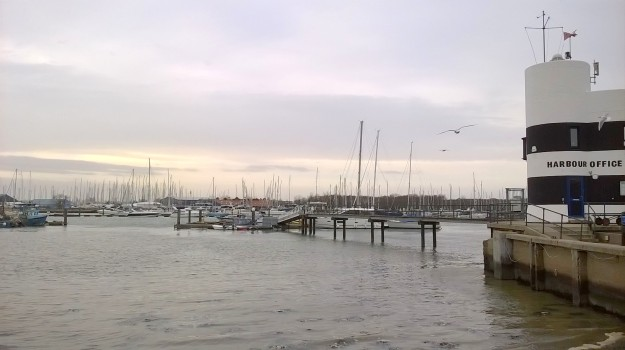 The harbour and yacht marina at Warsash, on the Hamble River, Hampshire, near where I grew up.