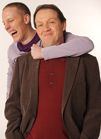 Kevin Whately and Laurence Fox promo shot for ITV's 'Lewis' series.