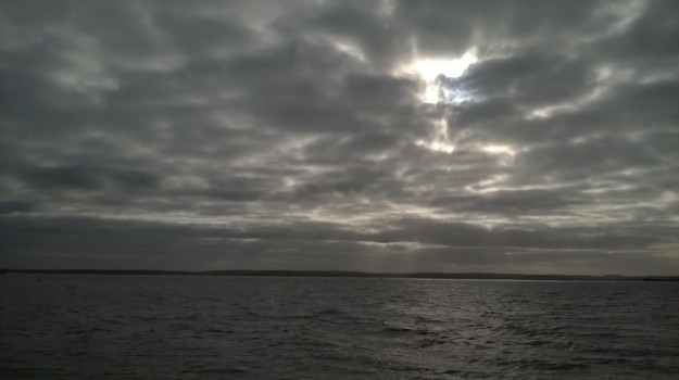 Sunbeams over the Isle of Wight
