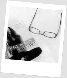 I'm having to abandon my varifocals to read until my new specs come.  Incidentally, Ana T Forrest's 'Fierce Medicine' is a great read for challenging times.