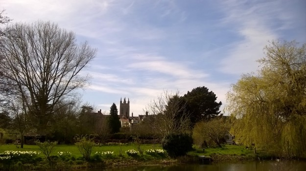 Bungay from the banks of the River Waveney